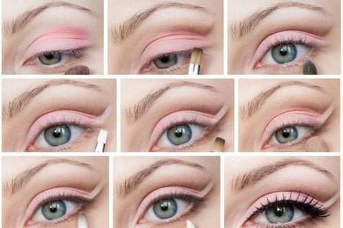 maquiagem rosa para o dia