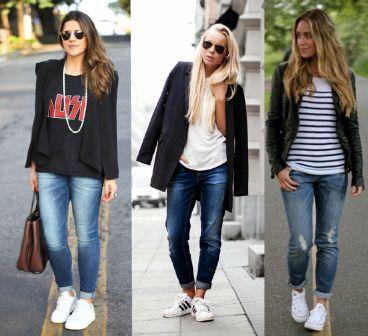 tenis branco com calça jeans