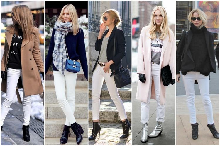 calça branca no inverno