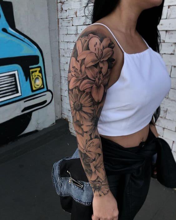 36 opções de tatuagens feminina no braço para você se inspirar!