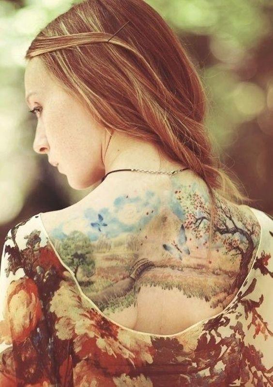 60 inspiraçōes para tatuagens femininas nas costas