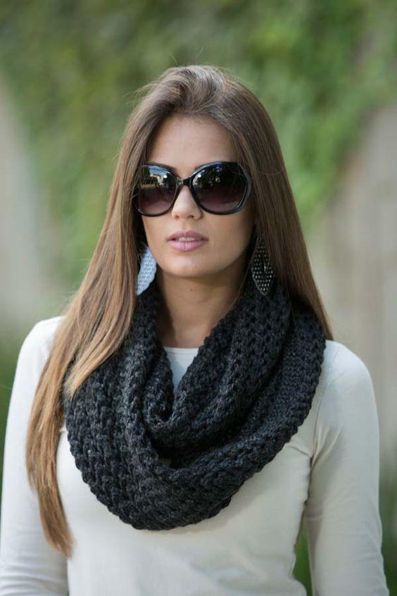 cachecol de trico