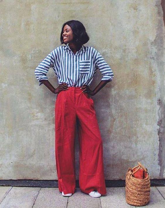 Calça Pantalona com Tênis: Quinze Looks para te Inspirar