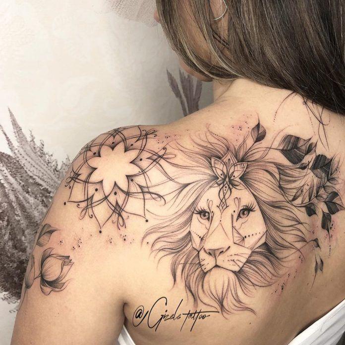 Épinglé sur Tatouage Lion