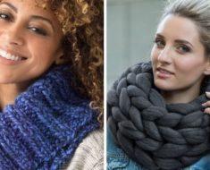 Gola de tricô: veja diferentes modelos e maneiras de usar