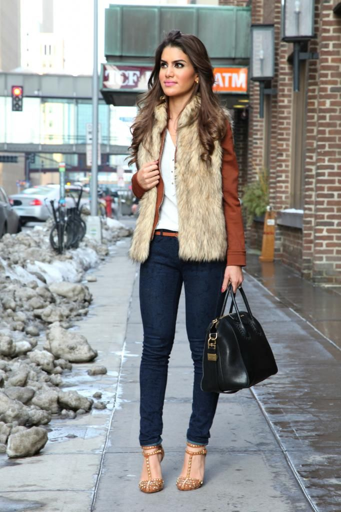 Look do Dia: Faux Fur Vest