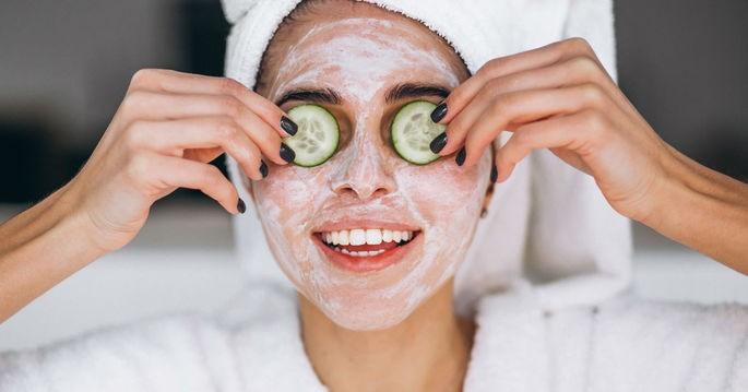 máscara de pepino para olheiras
