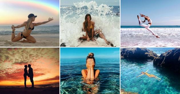 poses fotos praia