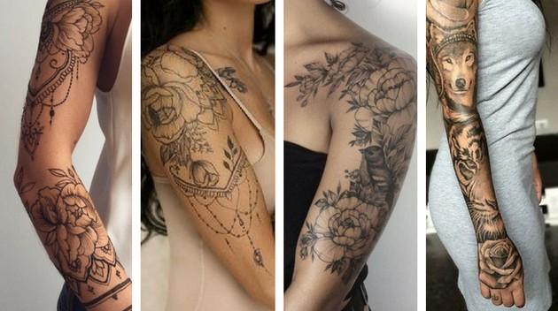 Tatuagem de braço fechado